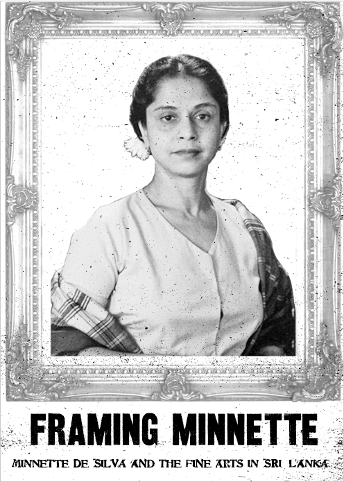 zine cover: photo of Sri Lankan architect Minnette De Silva in an ornate frame