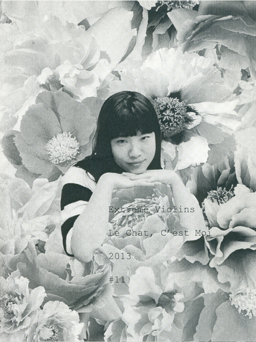 zine cover: photo of person in flower collage