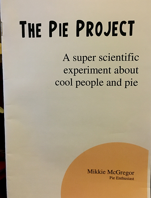 zine cover: The Pie Project