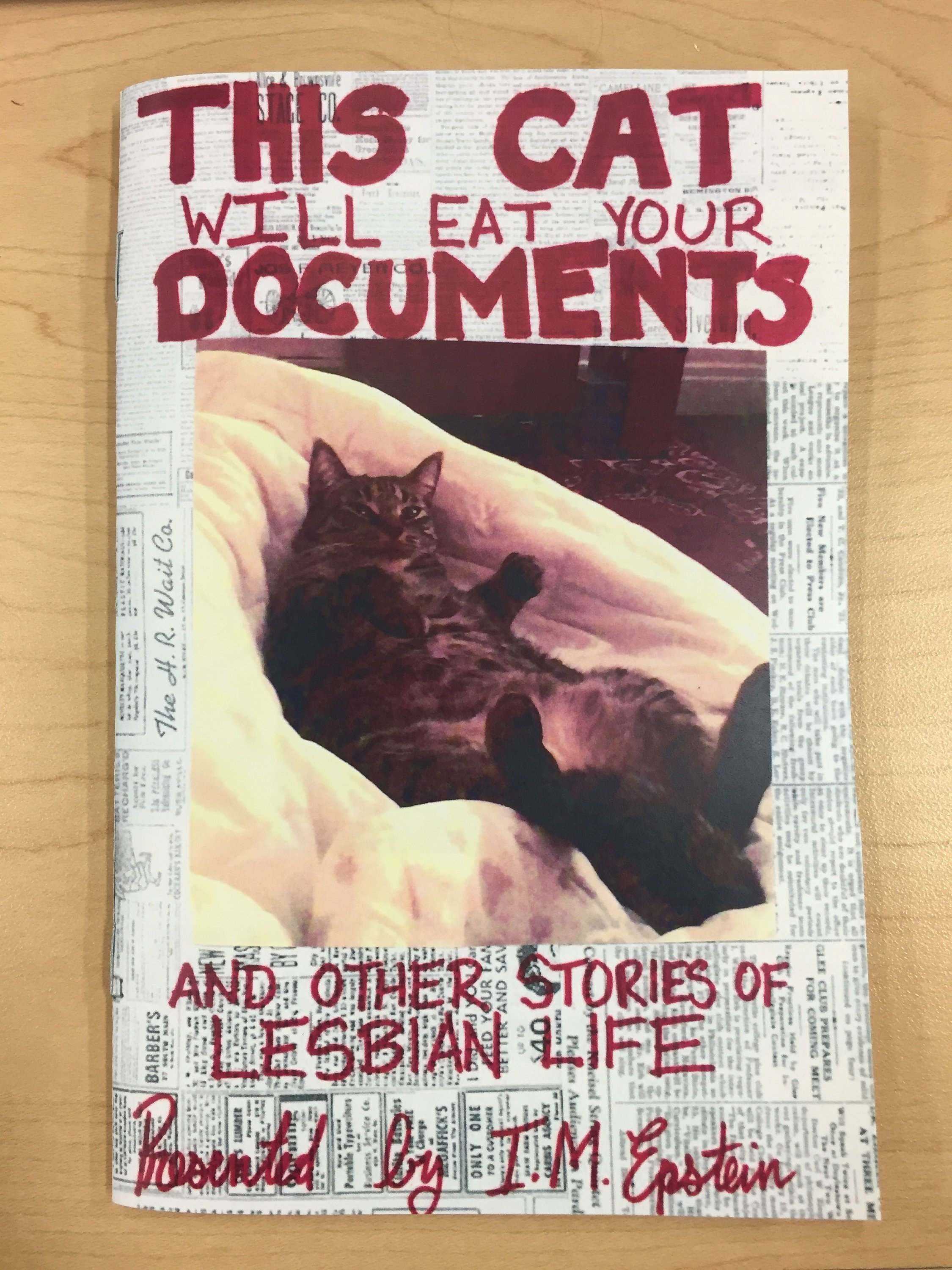zine cover: This Cat Will Eat Your Documents